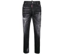 Ausgeblichene Boyfriend-Jeans