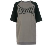 Sweatshirt-Kleid mit 'Seventeen'-Print