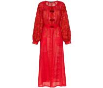 mina drop waist linen dress
