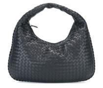 Kleine Hobo-Handtasche aus geflochtenem Leder