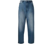 Hoch sitzende Boyfriend-Jeans
