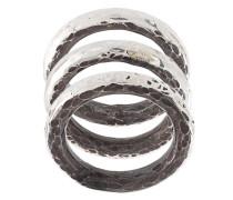 'Carved Stacker' Sterlingsilber-Ringset