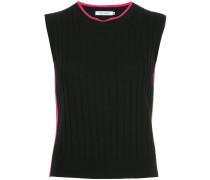 contrast sleeveless sweater