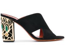 embellished heel sandals
