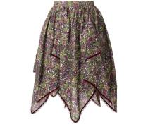floral print handkerchief skirt