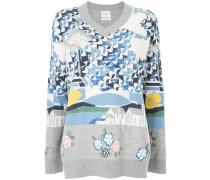 knitted motif jumper