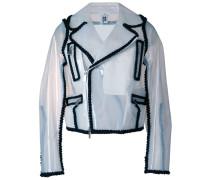 off-center zipped jacket