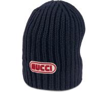 Mütze aus Wolle mit -Patch