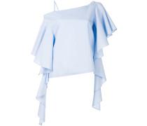 asymmetric draped sleeves blouse