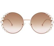 Sonnenbrille mit Perlen und Schleife