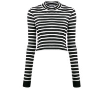 Gestreifter Cropped Pullover