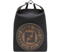Canvas-Rucksack mit Logo-Patch