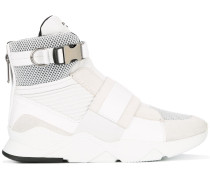 High-Top-Sneakers mit Schnallenriemen