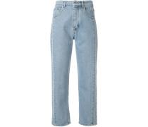 Cropped-Jeans mit Kontrastnähten