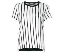 striped asymmetric T-shirt