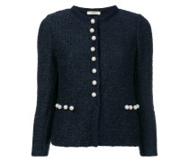 pearl buttons tweed jacket