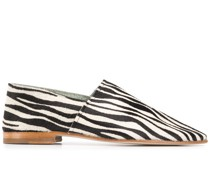 Slipper mit Zebra-Print