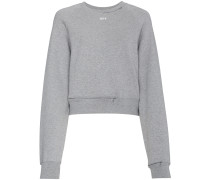 Cropped-Sweatshirt mit Cut-Outs