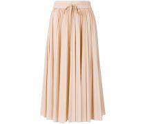 pleated midi-skirt