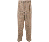 plaid tailored trousers