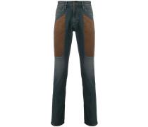 Skinny-Jeans mit Kontrasteinsätzen