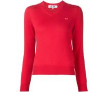 Pullover mit Herzstickerei