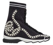 Sock-Sneakers mit Perlen