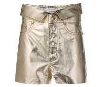 Taillenshorts in Metallic-Optik