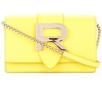 R plaque crossbody bag