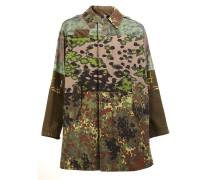 Mantel mit Camouflage-Print