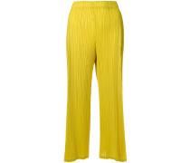 Cropped-Hose mit zweifarbigem Design