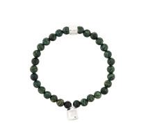 'Obsidian' Steinarmband und Glas