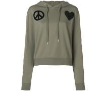 heart pach hoodie
