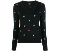 Besticker Pullover mit V-Ausschnitt