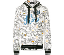 King graffiti print hoodie