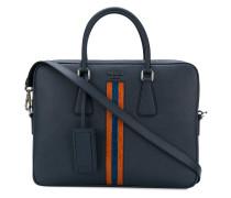 contrast stripe laptop bag