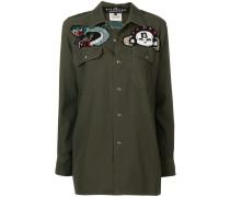 Military-Hemd mit Perlenstickerei