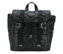 padded logo backpack