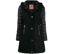 panelled puffer-sleeve jacket