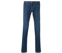 slim fit low rise jeans
