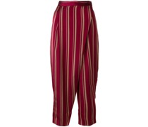foldover striped trousers