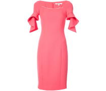 frill-sleeve fitted dress