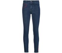 'All Is Love' Skinny-Jeans mit Stickerei