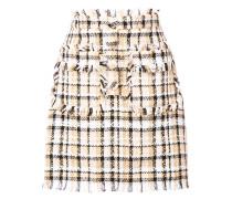 Tweed-Minirock mit Taschen