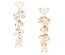 18kt Rotgold 'Offset Bar' Diamantohrringe