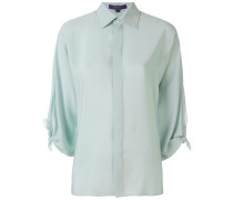 bow-sleeve fitted shirt