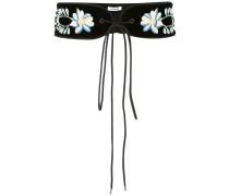 floral embroidered waist belt