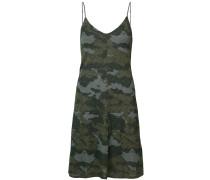 Camisole-Kleid mit Camouflage-Print