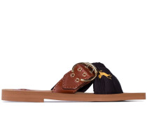 Woody Foulard cross-strap sandals