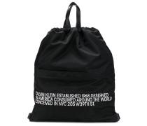 slogan drawstring backpack
